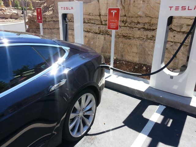 Tesla SuperCharger in Flagstaff