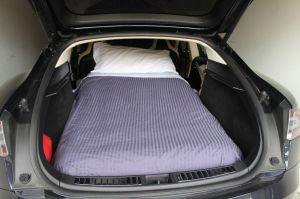 Mattress in a Tesla