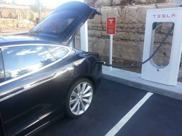 Free Charging at the Tesla SuperCharger