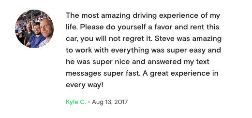 5 Star Tesla Rental Review